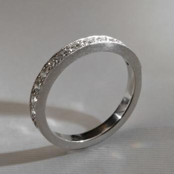 Platinum Brilliant Cut Diamond Eternity Ring