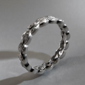 18ct W/G DiamondTatoo Eternity Ring