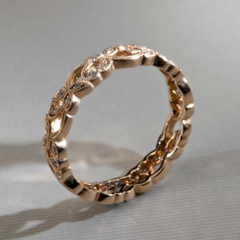 18ct R/G Diamond MiniFloral Eternity Ring