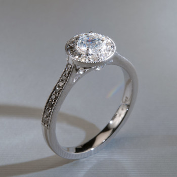 18ct W/G Brilliant Cut Diamond Halo Ring