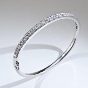 18ct W/G DiamondSet Bangle