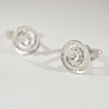 Silver Spiral Cufflinks