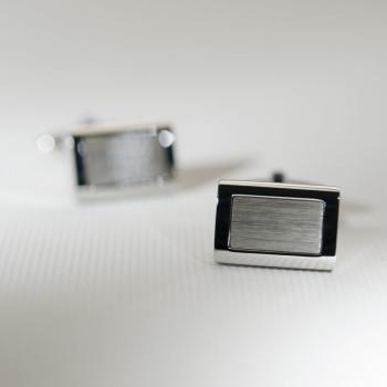 Steel matt& polished cufflinks