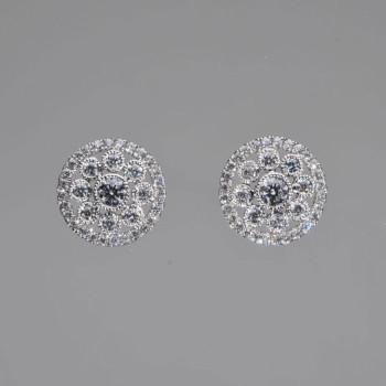 18ct W/G Diamond set Earrings