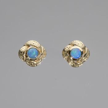 18ct Y/G Opal Earrings