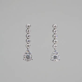 18ct W/G DiamondDrop Earrings