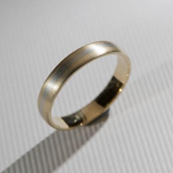 18ct Y/W/G Bi ColouredWedding Ring