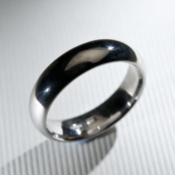 18ct W/G Court Wedding Ring